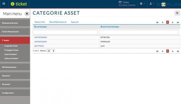 Categorie Asset